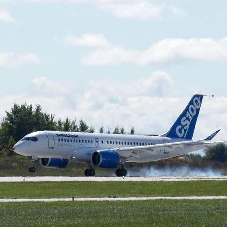 Aeronave da série C em Quebec, no Canadá. Foto: Clement Sabourin/AFP