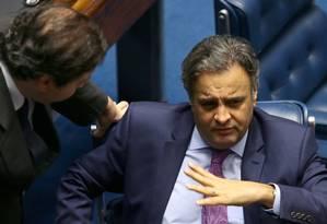 O senador afastado Aécio Neves (PSDB-MG) Foto: Jorge William / Agência O Globo 23/08/2017