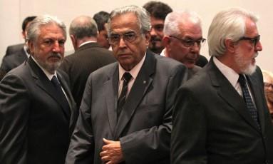 Eurico Miranda, atual presidente do Vasco, com Fernando Horta ao fundo, na cerimônia de posse em 2014 Foto: Marcelo Sadio / Vasco.com.br