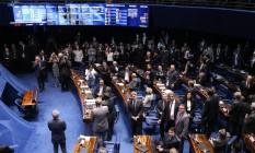 Senado derruba decisão do STF de afastar Aécio Neves do mandato Foto: Ailton de Freitas / Agência O Globo