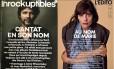 """Revista francesa """"Les Inrockuptibles"""" colocou na capa um cantor condenado por matar sua namorada e foi duramente criticada por internautas e entidades, incluindo a revista """"Elle"""" Foto: Twitter/Reprodução"""