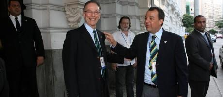 Carlos Arthur Nuzman e Sérgio Cabral. Foto Foto: Berg Silva / Berg Silva / Agência O Globo