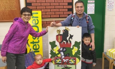 A família de Huang Wenbin Foto: Arquivo pessoal