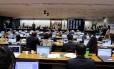 Comissão de Constituição e Justiça (CCJ) da Câmara vota relatório de Bonifácio de Andrada (PSDB-MG) pelo arquivamento da denúncia contra Temer Foto: Agência Câmara