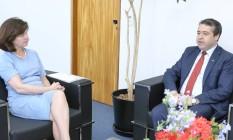 A procuradora-geral da República, Raquel Dodge, e o ministro do Trabalho, Ronaldo Nogueira Foto: Antônio Augusto/PGR
