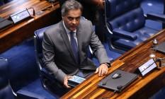 Aécio volta ao Senado e reafirma ser vítima de uma 'trama ardilosa' Foto: Ailton de Freitas / Agência O Globo