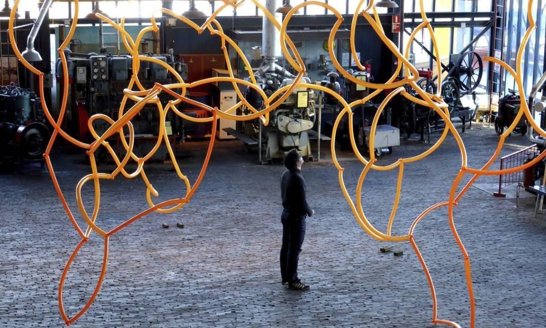 As instalações criadas para o festival pretendem estimular o lado sensorial dos participantes Foto: divulgação