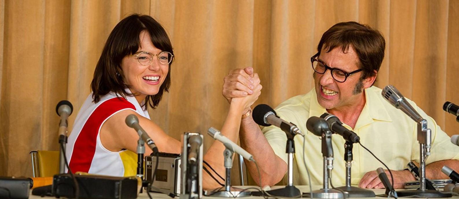 Cena do filme 'Guerra dos sexos' Foto: Divulgação