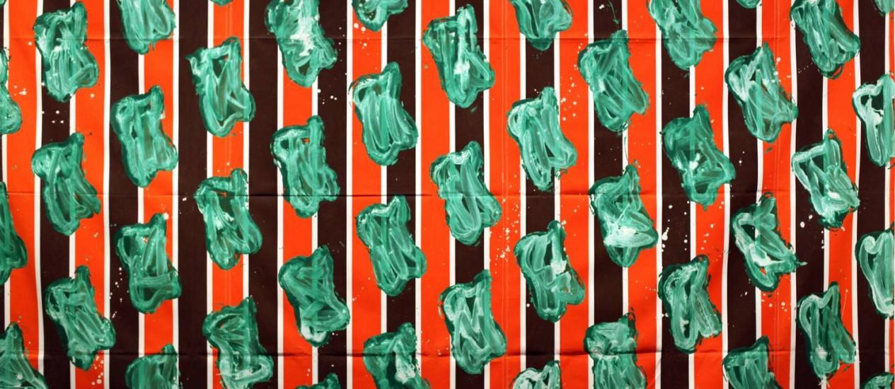 Obra do artista Claude Viallat Foto: Divulgação