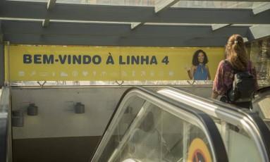 Escada da estação Jardim Oceânico, na Barra Foto: Analice Paron em 08/08/2017 / Agência O Globo