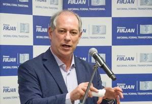 O ex-ministro Ciro Gomes é pré-candidato do PDT à Presidência em 2018 Foto: Divulgação