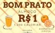 Em meio a polêmica da farinata, Alckmin compartilha imagem de almoço de R$ 1 do governo Foto: Reprodução