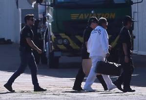 Geddel Vieira Lima chega em Brasília após ser preso pela Polícia Federal Foto: Jorge William/Agência O Globo/08-09-2017