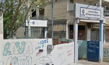 Entrada da Escola Estadual Professor Odyssea Silveira de Siqueira Foto: Reprodução/Google Street View