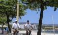 Guardas municipais em Icaraí: 130 agentes participarão da operação Foto: Agência O Globo / Brenno Carvalho