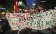 Protesto contra a farinata ocorreu na Avenida Paulista Foto: Andre Penner / AP