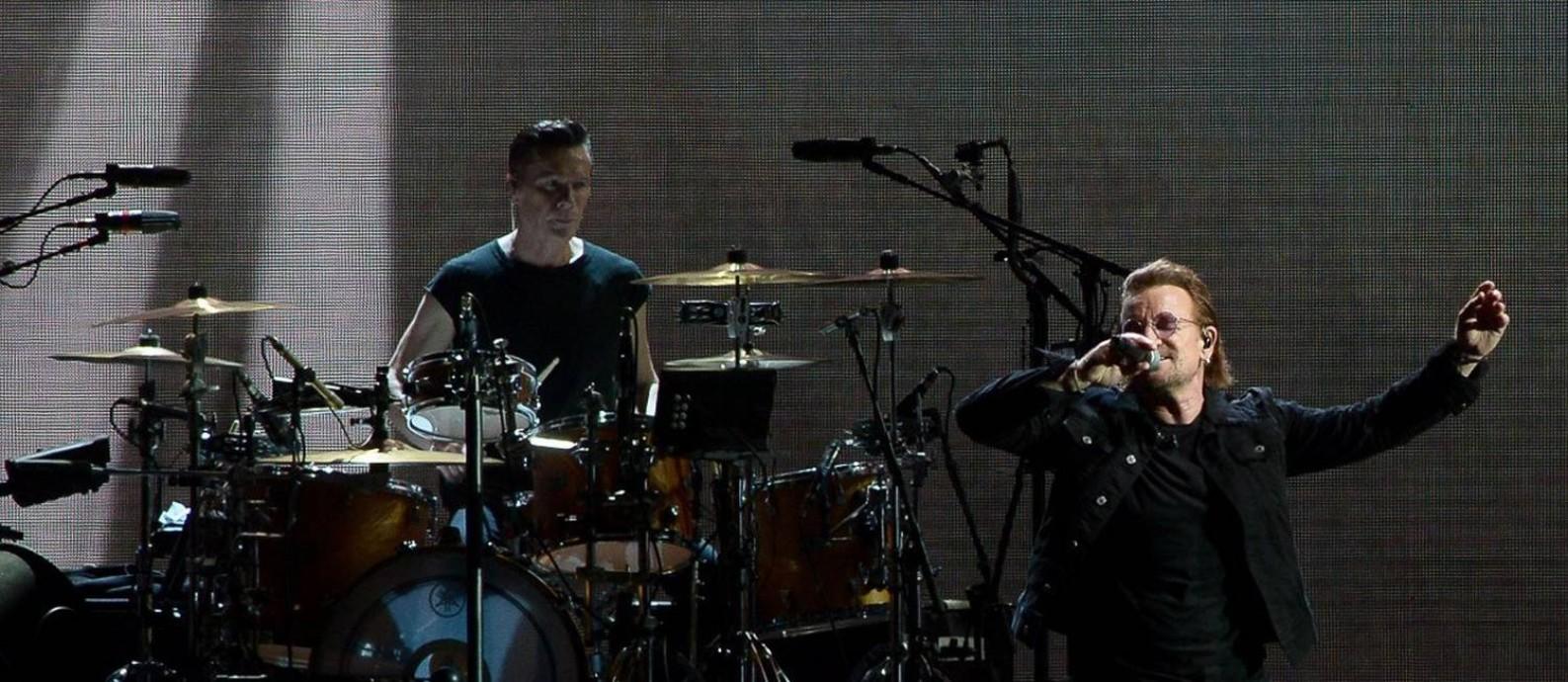 """O U2 fez na noite desta quinta-feira, no Estádio do Morumbi, o primeiro de quatro shows em São Paulo da turnê de 30 anos do disco """"The Joshua Tree"""" Foto: Francisco Cepeda / AgNews"""