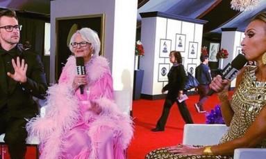 A estrelas das redes fala sobre figurinos no Grammy Foto: Reprodução
