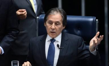Presidente do Senado Federal, Eunício Oliveira Foto: Jorge William / Agência O Globo