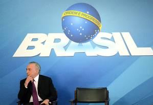 O presidente Michel Temer Foto: Edu Andrade / Fatopress / Agência O Globo / Agência O Globo