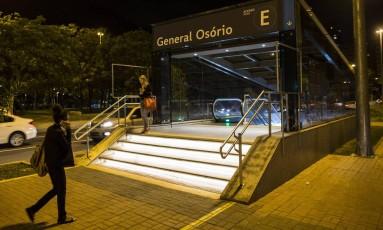 A estação do metrô General Osório, em Ipanema Foto: Guito Moreto em 13/07/2017 / Agência O Globo