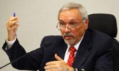 Ex-gerente-executivo internacional da estatal, Luis Carlos Moreira da Silva, durante depoimento à CPI da Petrobras no Senado (03/06/2014) Foto: André Coelho / Agência O GLOBO