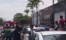 Colégio Goyases após ataque a tiros Foto: Reprodução / Facebook
