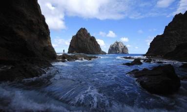 Ilha. Santa Helena conta com a geografia recortada como atrativo para o turismo Foto: Edward Thorpe / Edward Thorpe/St. Helena Tourism/AP