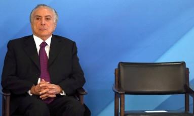 O presidente Michel Temer Foto: Givaldo Barbosa / Agência O Globo 17/ 10/2017