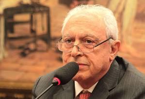 Milton Taufic Schahin, durante depoimento na CPI da Petrobras no Senado, em 2015 Foto: Jorge William / Agência O Globo