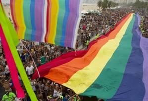 Prefeitura do Rio alegou não ter dinheiro para patrocinar a Parada do Orgulho LGBTI na Praia de Copacabana Foto: Leo Martins / Agência O Globo