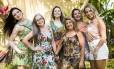 Atrás, da esquerda para a direita: Renata Pilar, Nedjima Garcia, Luciana Vidal e Beth Filippelle; na frente: Ana Polilo e Lourdes Vital Foto: Bárbara Lopes