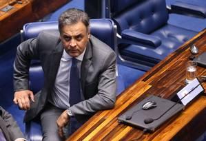 O senador Aécio Neves (PSDB-MG) Foto: Ailton de Freitas / Agência O Globo 18/10/2017