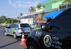 Colégio Goyases, em Goiânia, onde um estudante matou dois colegas de turma Foto: Jorge William / Agência O Globo