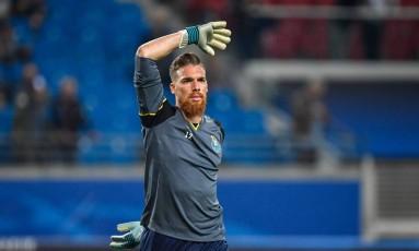 Jorge Sá, goleiro do Porto Foto: JOHN MACDOUGALL / AFP
