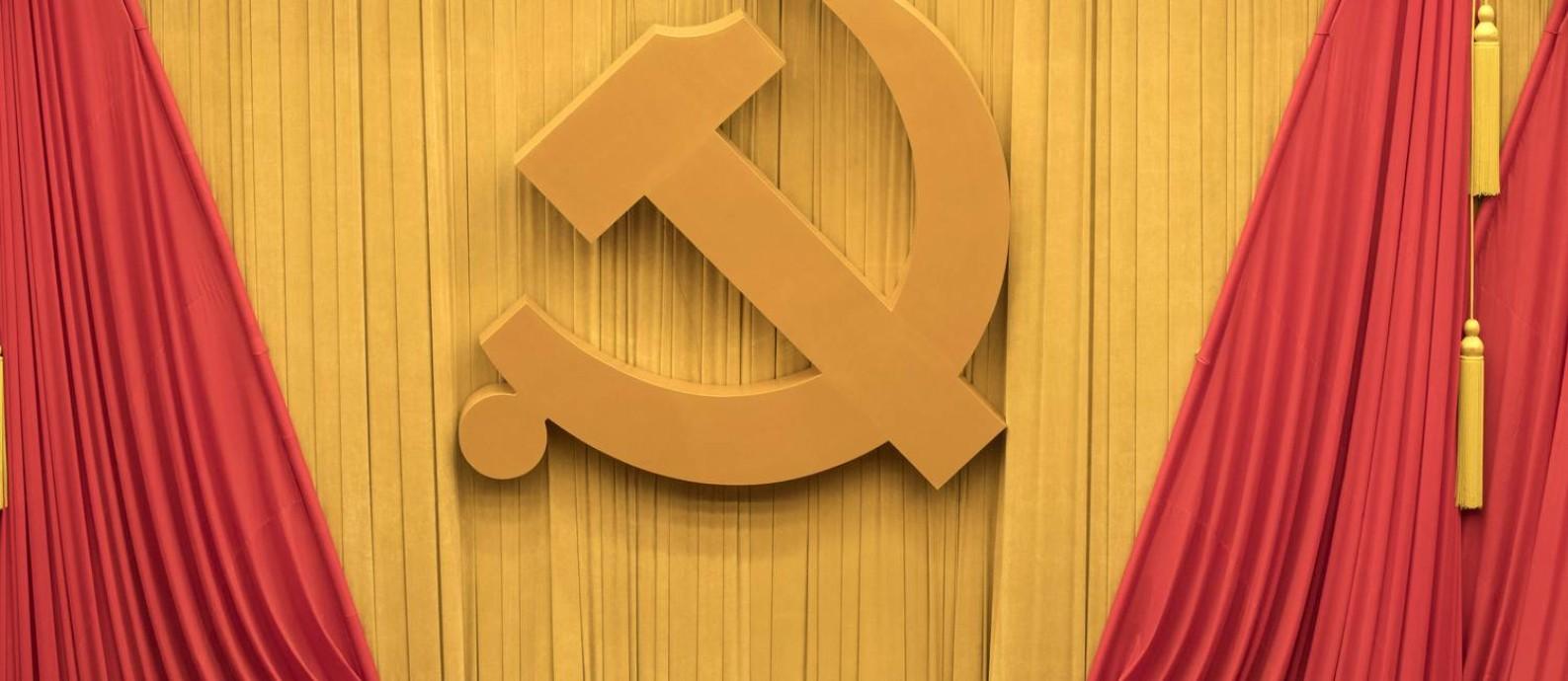 Cerimônia de abertura do Congresso do Partido Comunista Chinês na última quarta-feira, em Pequim Foto: Ng Han Guan / AP