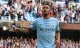Gabriel Jesus comemora gol pelo City Foto: OLI SCARFF / AFP
