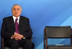 O presidente Michel Temer Foto: Givaldo Barbosa / Agência O Globo / 17-10-17