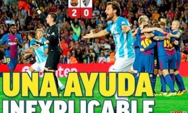Manchete do 'Marca' destaca erro da arbitragem Foto: Reprodução