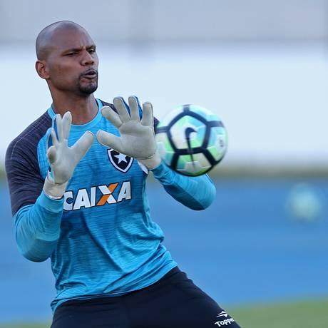 Goleiro Jefferson em ação no treinamento do Botafogo Foto: Vitor Silva/SS Press/04-09-2017 / Divulgação/Botafogo