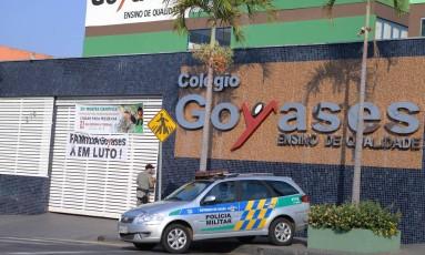 Colégio em Goiânia, onde adolescente atirou e matou dois colegas de turma Foto: Jorge William / Agência O Globo 20/10/2017