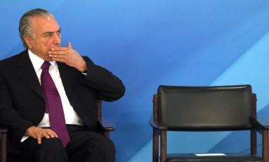 Temer vai se reunir com ministros e parlamentares Foto: Givaldo Barbosa / Agência O Globo
