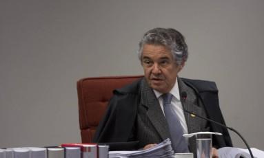 Marco Aurélio não vê problema algum em acordos conduzidos pela polícia Foto: Michel Filho / Agência O Globo