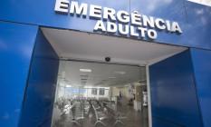 A emergência do Hospital Rocha Faria completamente vazia em 22/10/2017 Foto: Márcia Foletto / Agência O Globo
