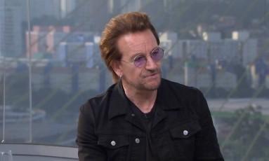 Bono Vox em entrevista ao Fantástico Foto: Reprodução