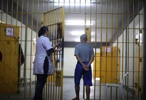 Adolescente internado na unidade de Itanhaém da Fundação Casa (20/07/2015) Foto: Marcos Alves / Agência O Globo