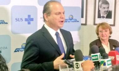 O ministro da Saúde, Ricardo Barros, afirmou que a medida é 'ampliar como um todo a estrutura para o tratamento do câncer' Foto: Reprodução