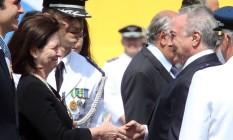 Michel Temer presta homenagem à procuradora-geral da República, Raquel Dodge Foto: Givaldo Barbosa / Agência O Globo