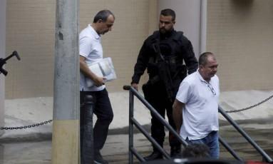 Ex-governador Sérgio Cabral deixa a justiça federal após depoimento Foto: Domingos Peixoto / Agência O Globo