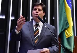 O deputado Baleia Rossi (PMDB-SP), líder do PMDB Foto: Zeca Ribeiro / Câmara dos Deputados/15-03-2017
